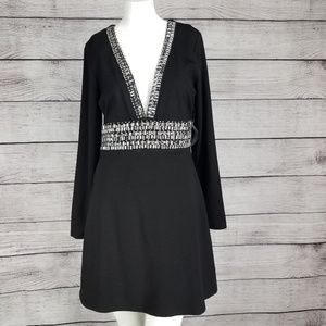 NWT Venus 6 Deep V Embellished trim Cocktail Dress